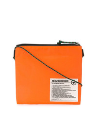 Pochette en cuir orange Neighborhood