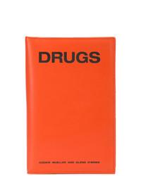 Pochette en cuir orange Raf Simons