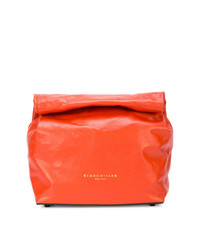 Pochette en cuir orange Simon Miller