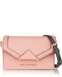 Pochette en cuir rose Karl Lagerfeld