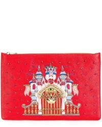Pochette en cuir rouge Dolce & Gabbana