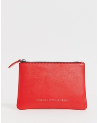 Pochette en cuir rouge French Connection