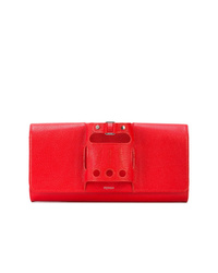 Pochette en cuir rouge Perrin Paris