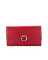 Pochette en cuir rouge Rebecca Minkoff