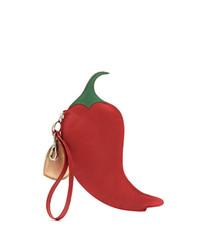 Pochette en cuir rouge Sarah Chofakian