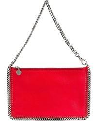 Pochette en cuir rouge Stella McCartney