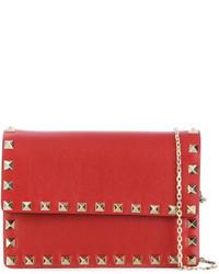 Pochette en cuir rouge Valentino Garavani