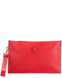 Pochette en cuir rouge Versace