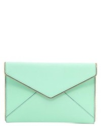 Pochette en cuir vert menthe Rebecca Minkoff
