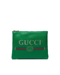 Pochette en cuir verte Gucci