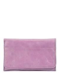 Pochette en cuir violet clair
