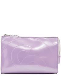 Pochette en cuir violet clair Maison Margiela