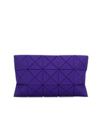 Pochette en cuir violette Bao Bao Issey Miyake