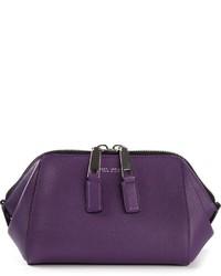 Pochette en cuir violette Marc Jacobs