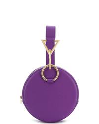 Pochette en cuir violette Tara Zadeh
