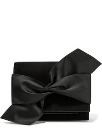 Pochette en daim noire Victoria Beckham