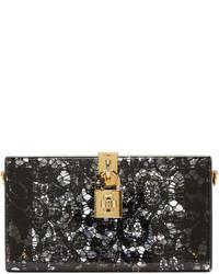 Pochette en dentelle noire Dolce & Gabbana
