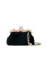 Pochette en fourrure noire Dolce & Gabbana