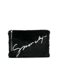 Pochette en fourrure noire Givenchy