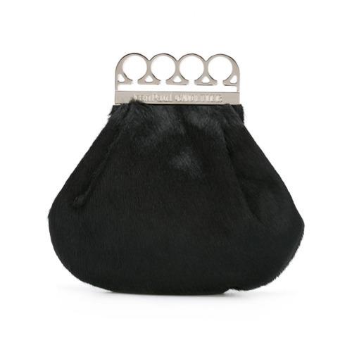 Pochette en fourrure noire Jean Paul Gaultier Vintage