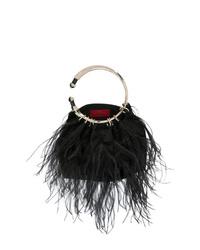 Pochette en fourrure noire Valentino