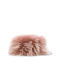 Pochette en fourrure rose Dsquared2