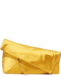 Pochette en satin moutarde Diane von Furstenberg