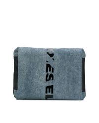 Pochette en toile bleu marine Diesel