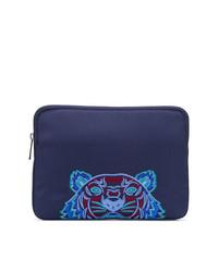 Pochette en toile bleu marine Kenzo