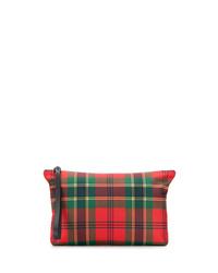 Pochette en toile écossaise rouge Alexander McQueen