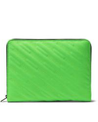 Pochette en toile verte