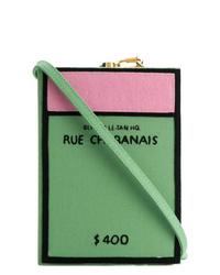 Pochette en toile verte Olympia Le-Tan
