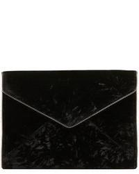 Pochette en velours noire
