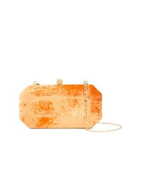 Pochette en velours orange Tyler Ellis