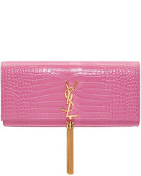 Pochette fuchsia Saint Laurent