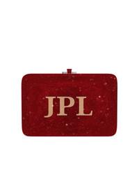 Pochette imprimée bordeaux Judith Leiber Couture
