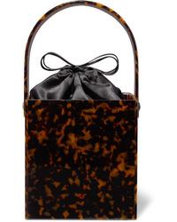 Pochette imprimée léopard marron foncé Montunas