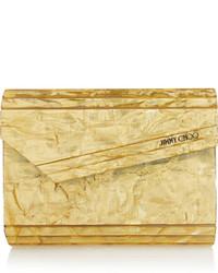 Pochette jaune Jimmy Choo