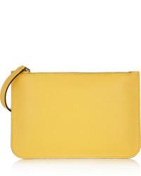 Pochette jaune Valextra