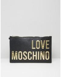 Pochette noire Love Moschino