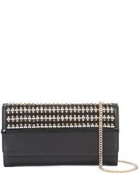 Pochette ornée de perles noire Lanvin