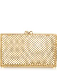 Pochette ornée dorée Charlotte Olympia