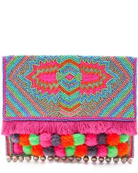 Pochette ornée multicolore