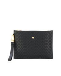 Pochette ornée noire Versace