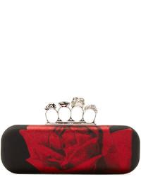 Pochette rouge et noir Alexander McQueen