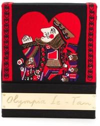 Pochette rouge et noir Olympia Le-Tan