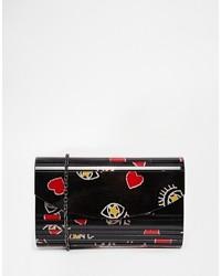 Pochette rouge et noir