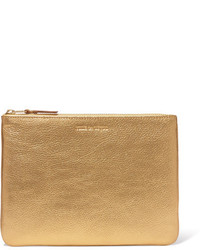 Pochette texturée dorée Comme des Garcons