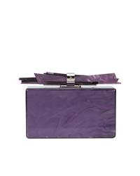 Pochette violette Edie Parker