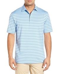 Polo à rayures horizontales bleu clair